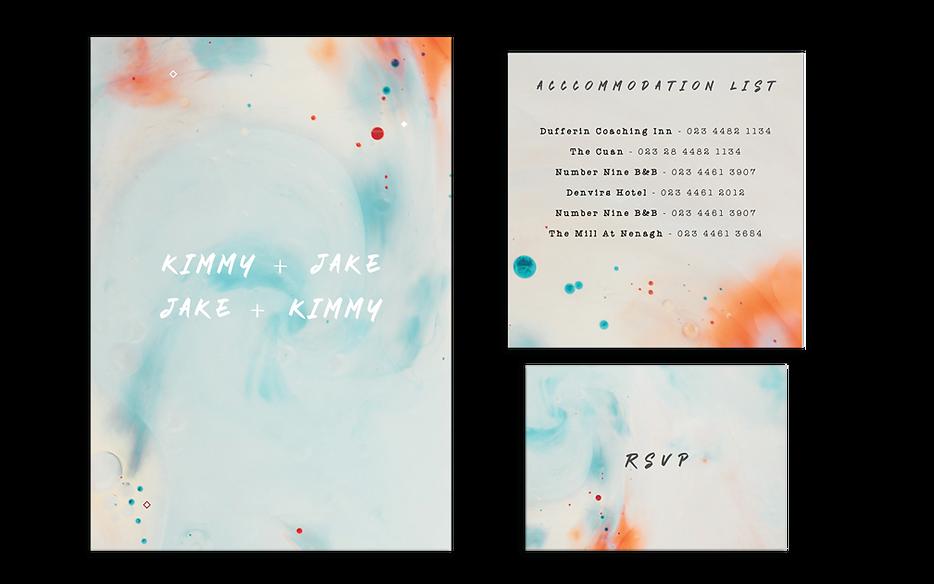 Pastel Watercolour Wedding Invitations Ireland