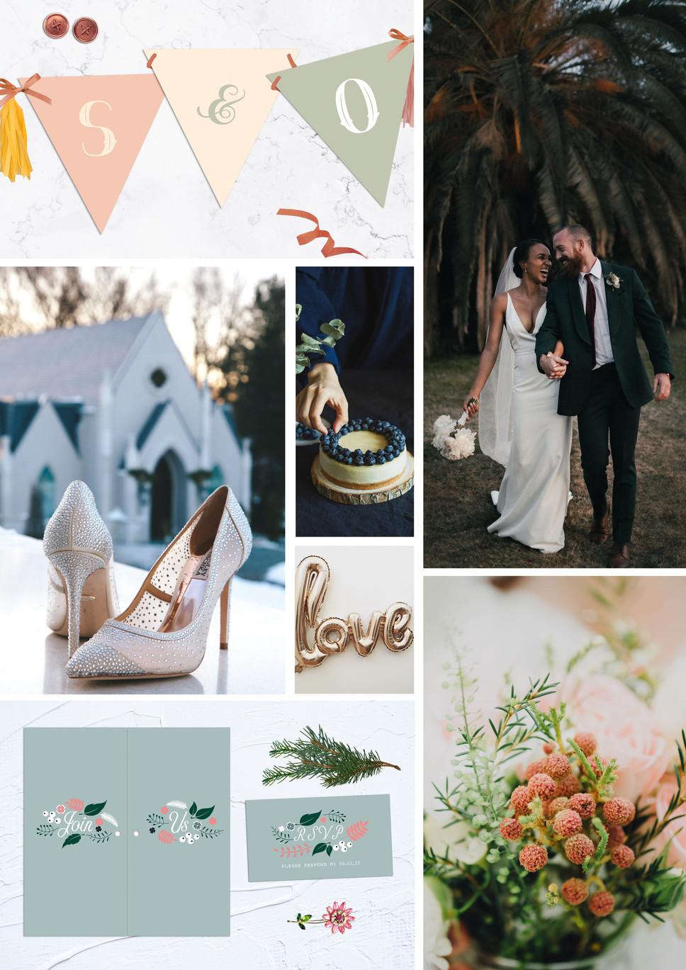 SUMMER WEDDING MOOD BOARD: BLUSH & BLUE