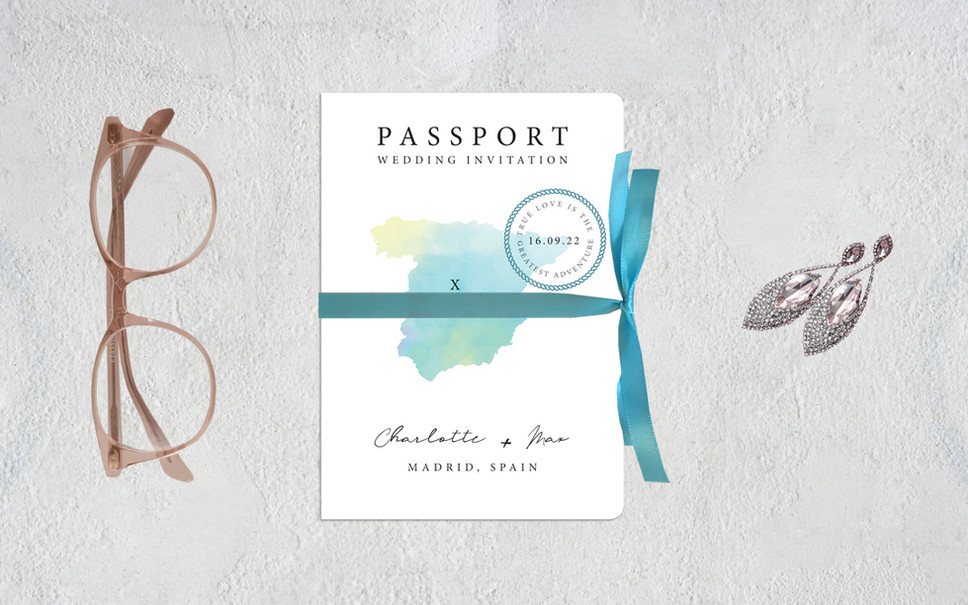 *NEW* PASSPORT WEDDING INVITATION