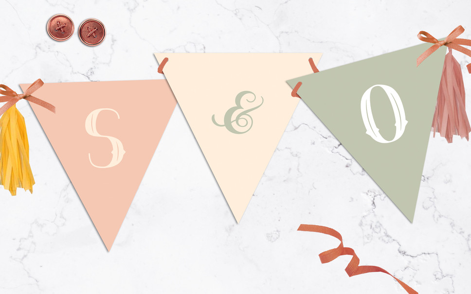 FEATURED WEDDING INVITATION: BUNTING BLISS