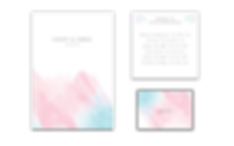 Cloudy Pastel Pink and Blue Invitations Ireland