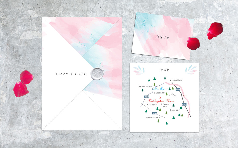 FEATURED WEDDING INVITATION: CLOUDS IN MY POCKET