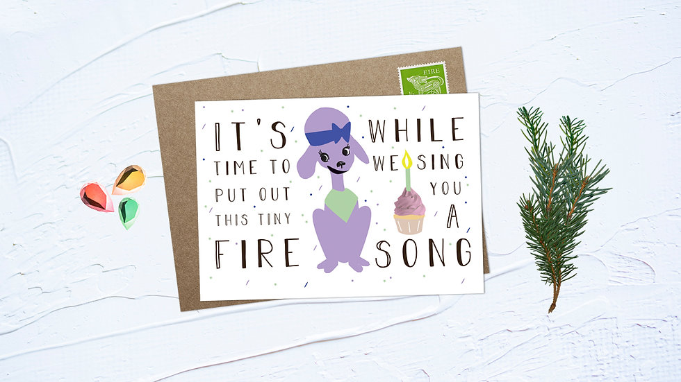 Tiny Fire Greeting Card