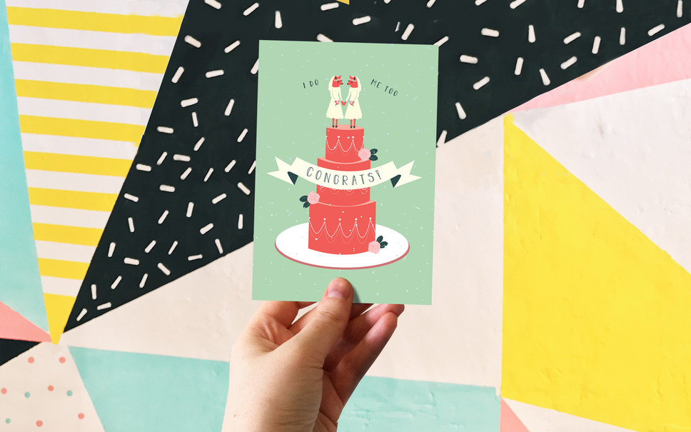 THE STARS APPEARED: WEDDING GREETING CARDS