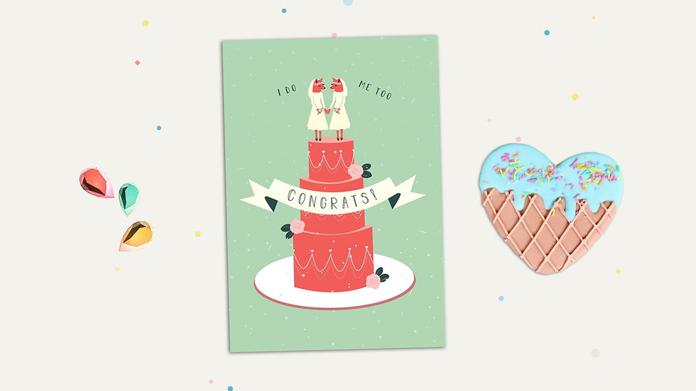 LGBTQ Gay Wedding Marriage Greeting Card