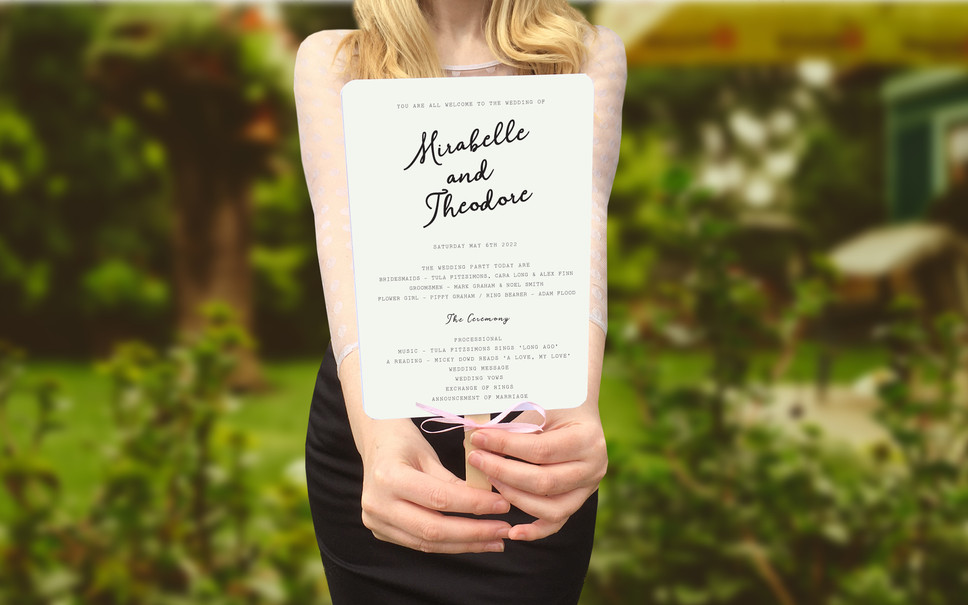 WEDDING STATIONERY: WEDDING FANS