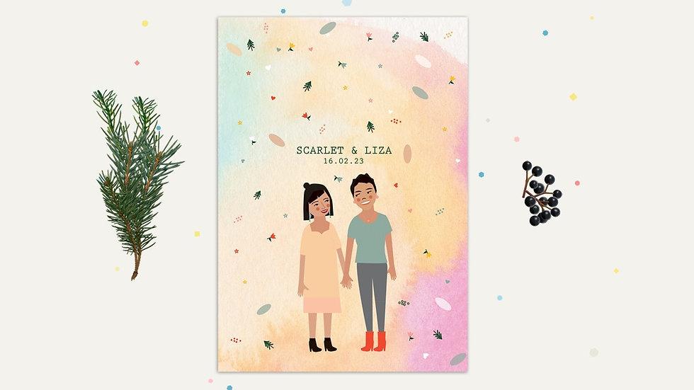 Pastel wedding invitations ireland