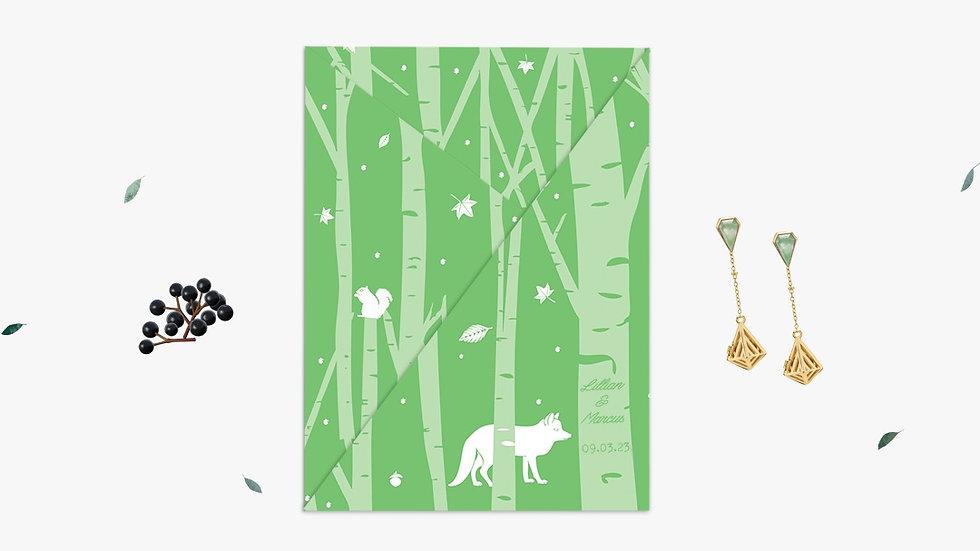 Folded wedding invitations Ireland