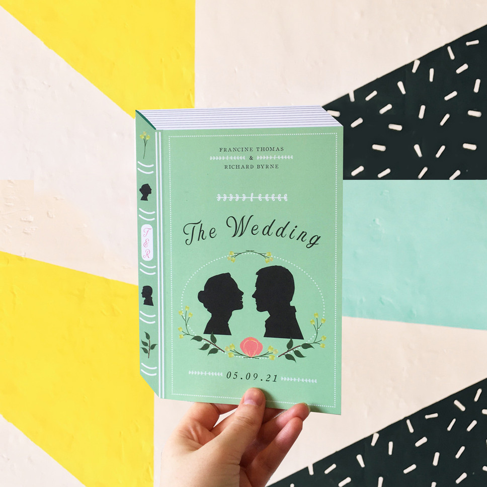 THE WEDDING - Book Themed Wedding Invitation
