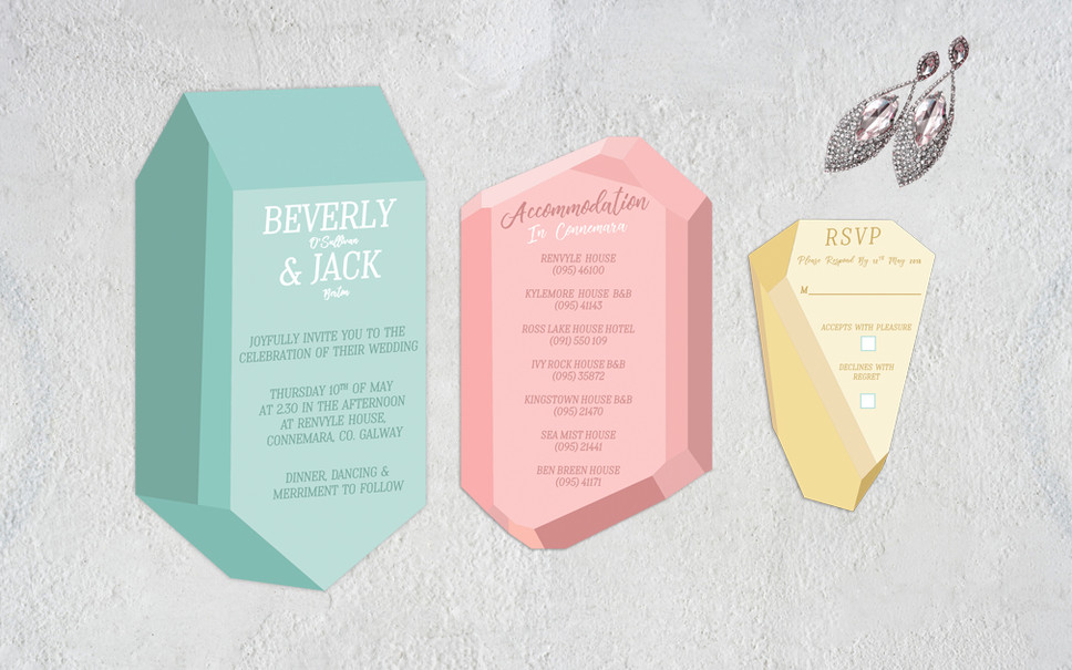 BELOVED JEWELS - GEM WEDDING INVITATION