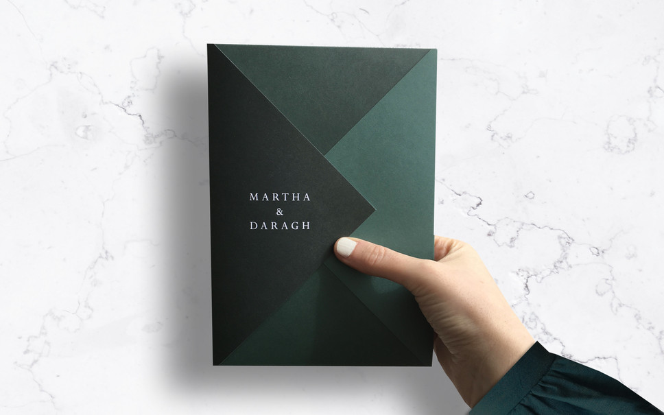 FEATURED WEDDING INVITATION: FOLDED FOREST