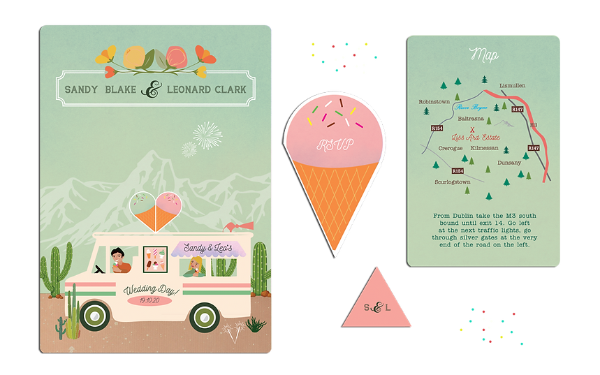 Dreaming of Sundae Wedding Invitations I