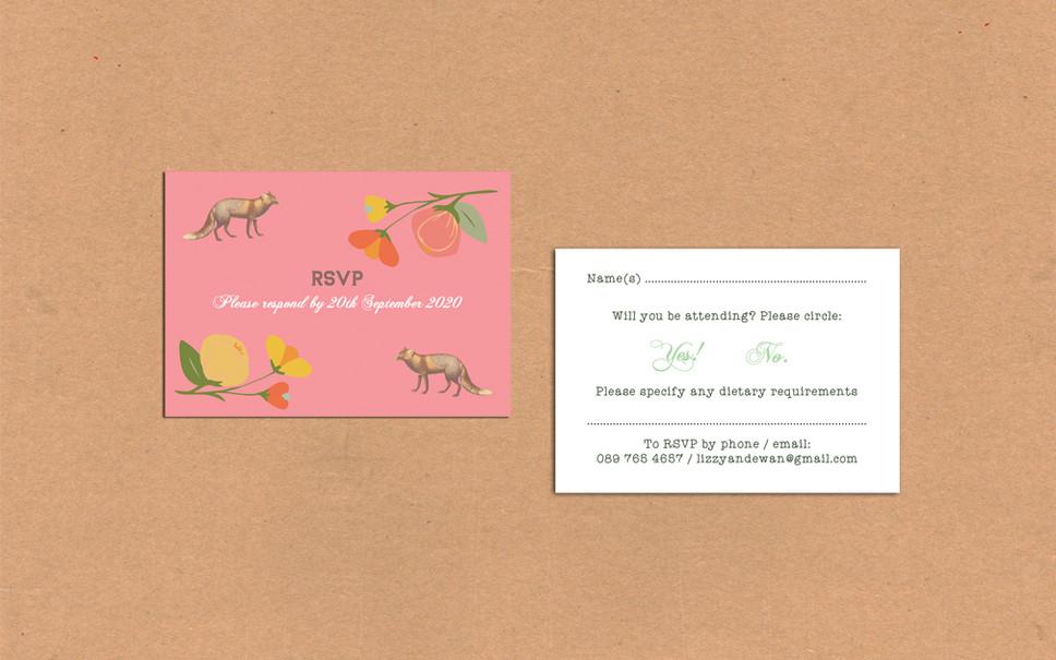 FOX WEDDING INVITATIONS!