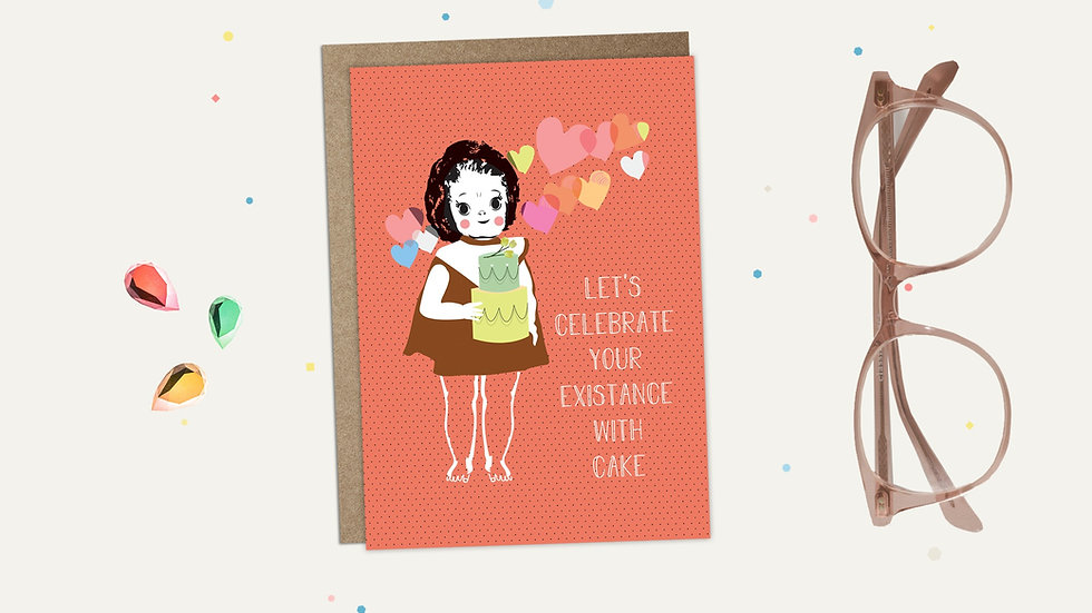 Celebrate With Cake Greeting Card
