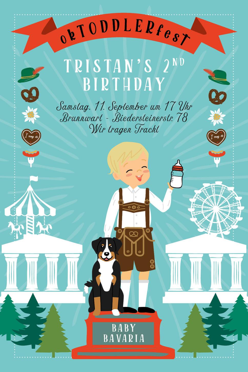 BIRTHDAY INVITATIONS: TRISTAN'S SECOND BIRTHDAY
