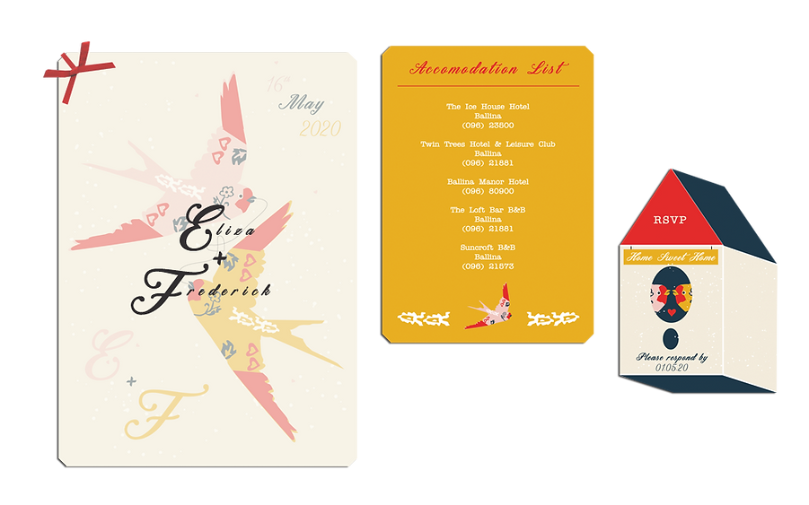Flying With You Wedding Invitations Emer