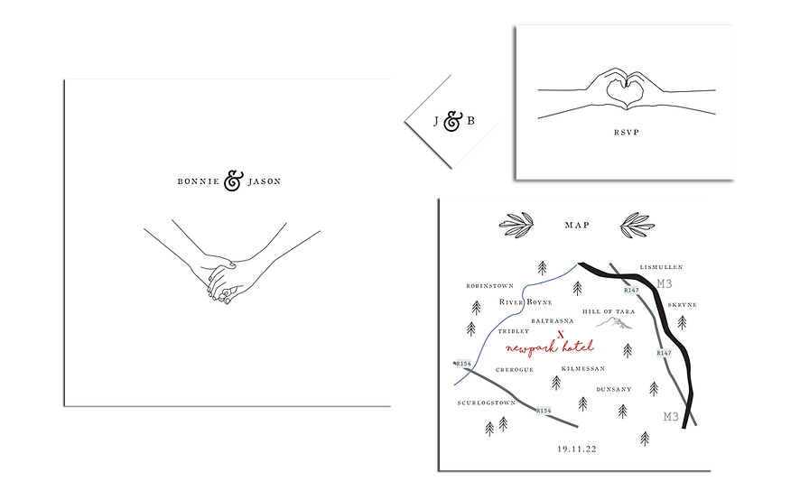 Take My Hand Wedding Invitations Package