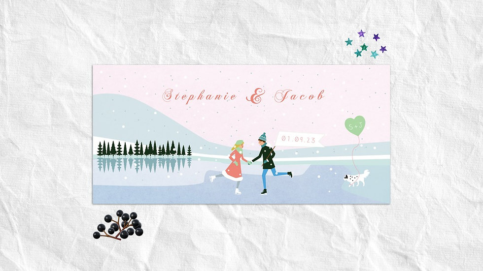 Winter wedding invitations ireland