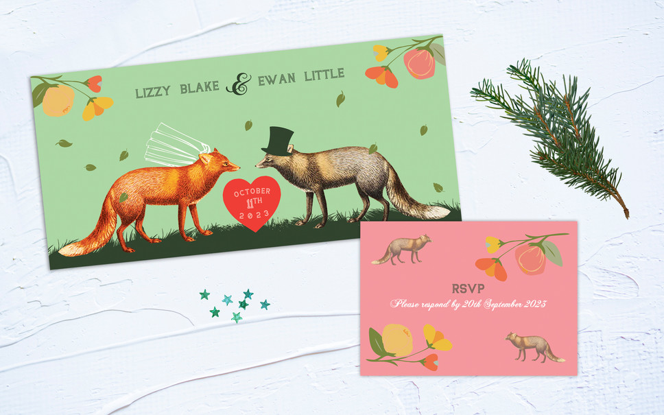 FEATURED WEDDING INVITATION: A LOVE AMONG FOXES