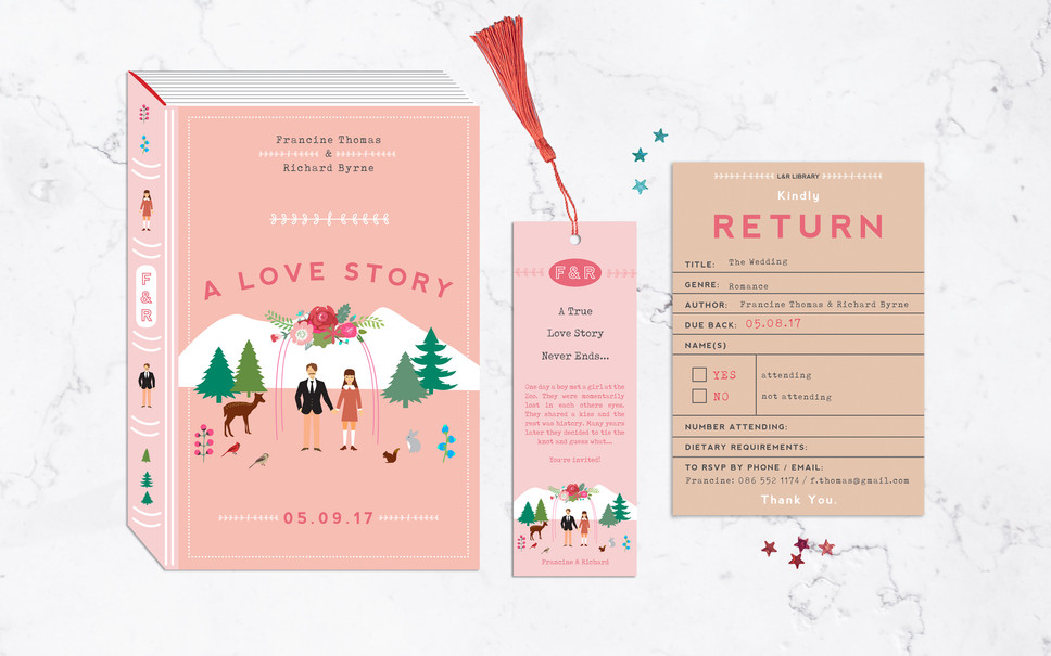 FEATURED WEDDING INVITATION: A LOVE STORY