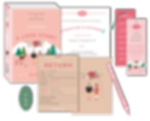 Book Theme Wedding Invitation Package Library Card RSVP
