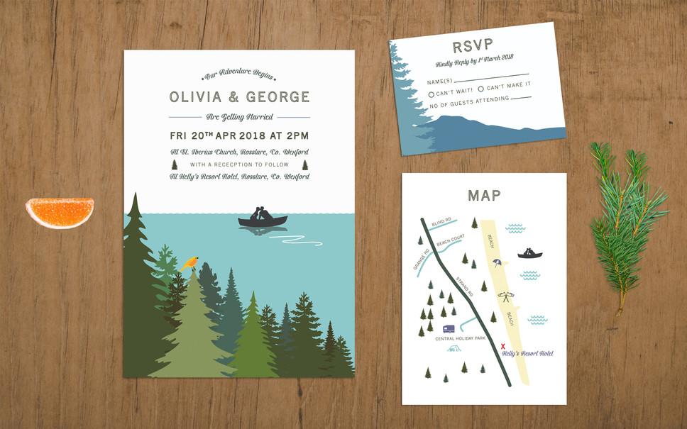 FEATURED WEDDING INVITATION: ADVENTURE ISLAND