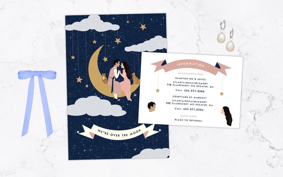 KATIE & DAEYOUNG WEDDING INVITATION