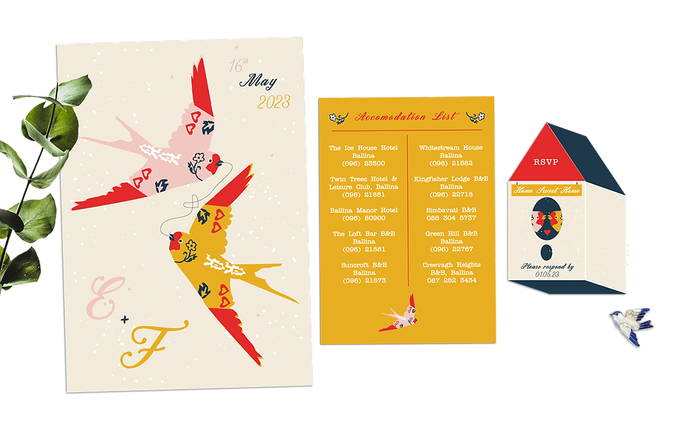 Flying With You Bird Wedding Invitations Gold Scandinavian.png