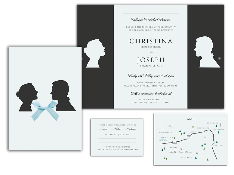 Silhouette Wedding Invitation Ireland Pa