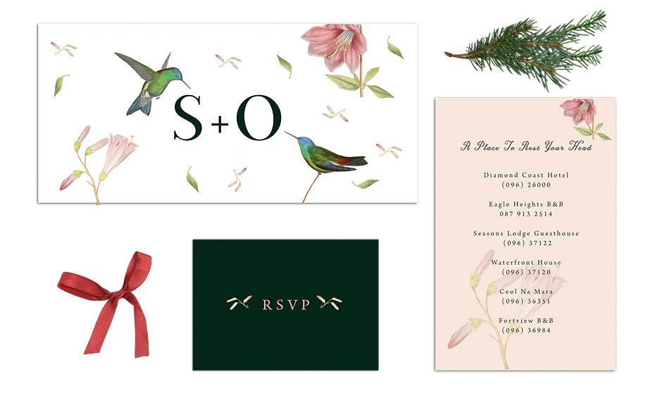 Hummingbirds Wedding Invitations Vintage