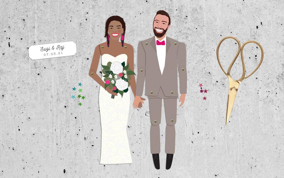 WEDDING STATIONERY: PAPER DOLLS