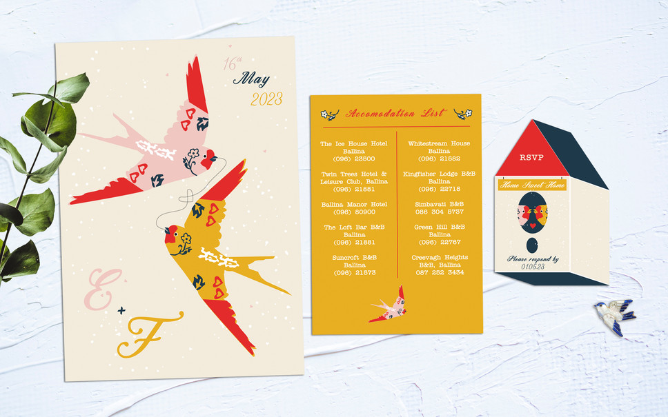 FEATURED WEDDING INVITATION: FLYING WITH YOU