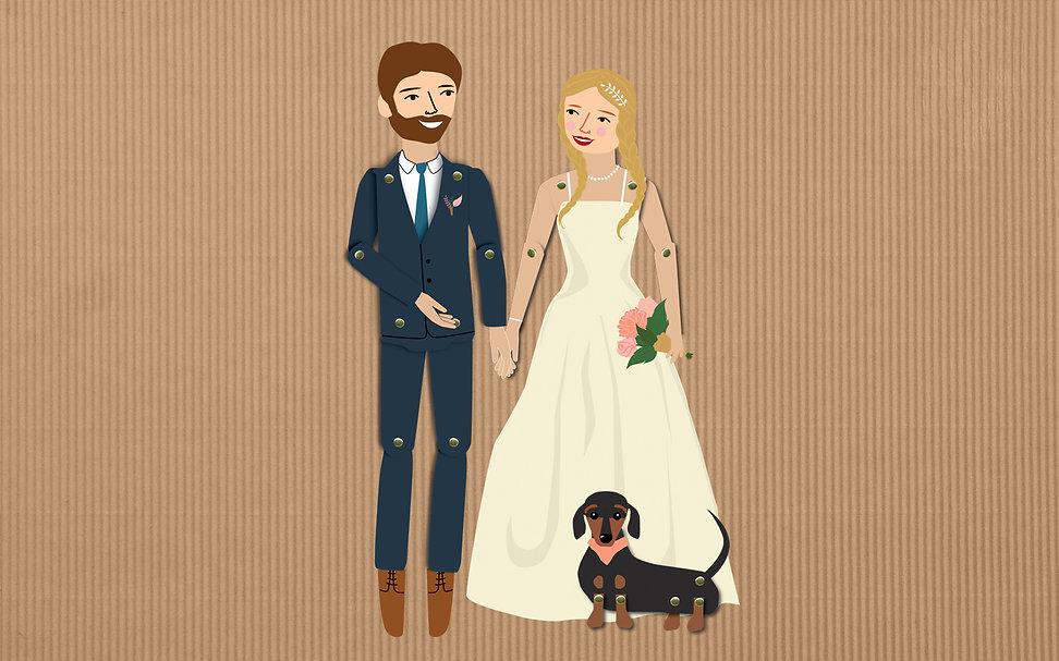 Paper Dolls Wedding Couple Dog.jpg