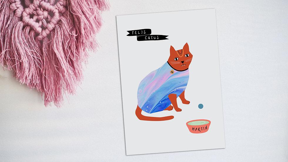 Custom pet illustration small business ireland