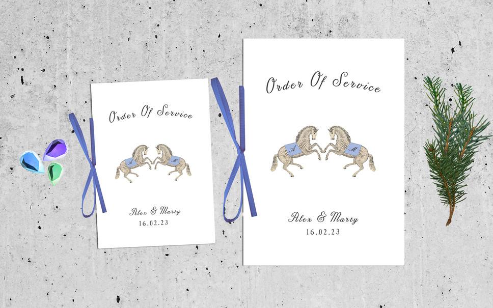 WEDDING STATIONERY: CEREMONY BOOKLETS
