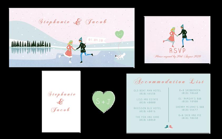 Winter Wonderland Wedding Invitation Ire