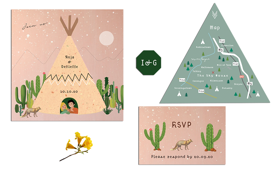 Dreaming In A Teepee Wedding Invitations