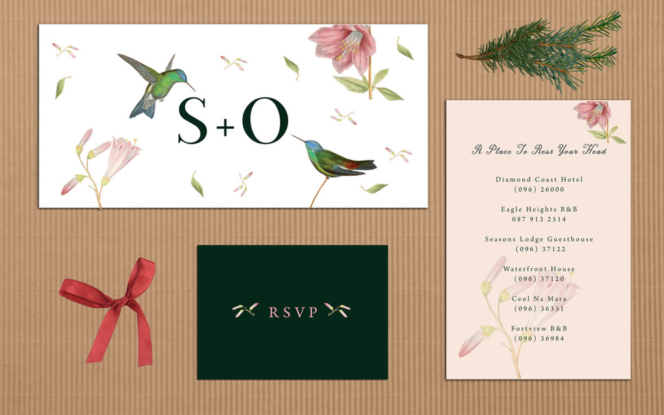 FEATURED WEDDING INVITATION: HUMMINGBIRDS