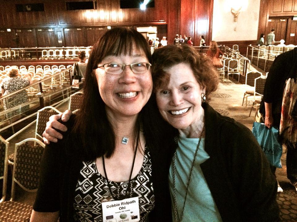 Debbie meeting Judy Blume