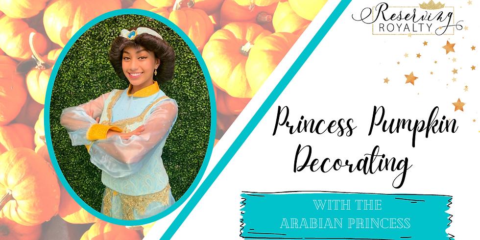 Pumpkin Decorating with The Arabian Princess