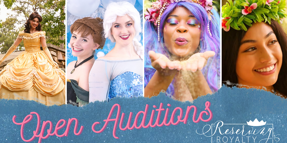 Open Casting Call for Princess & Character Performers