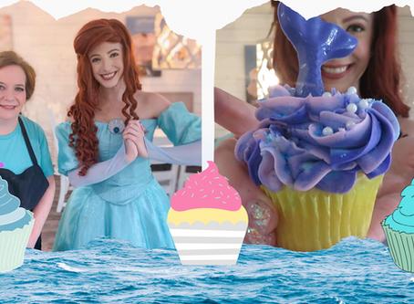 The Little Mermaid Visits a Cupcake Shop
