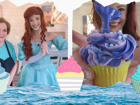 The Little Mermaid Visits a Cupcake Shop
