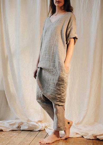 jurk BOLD V-hals linnen