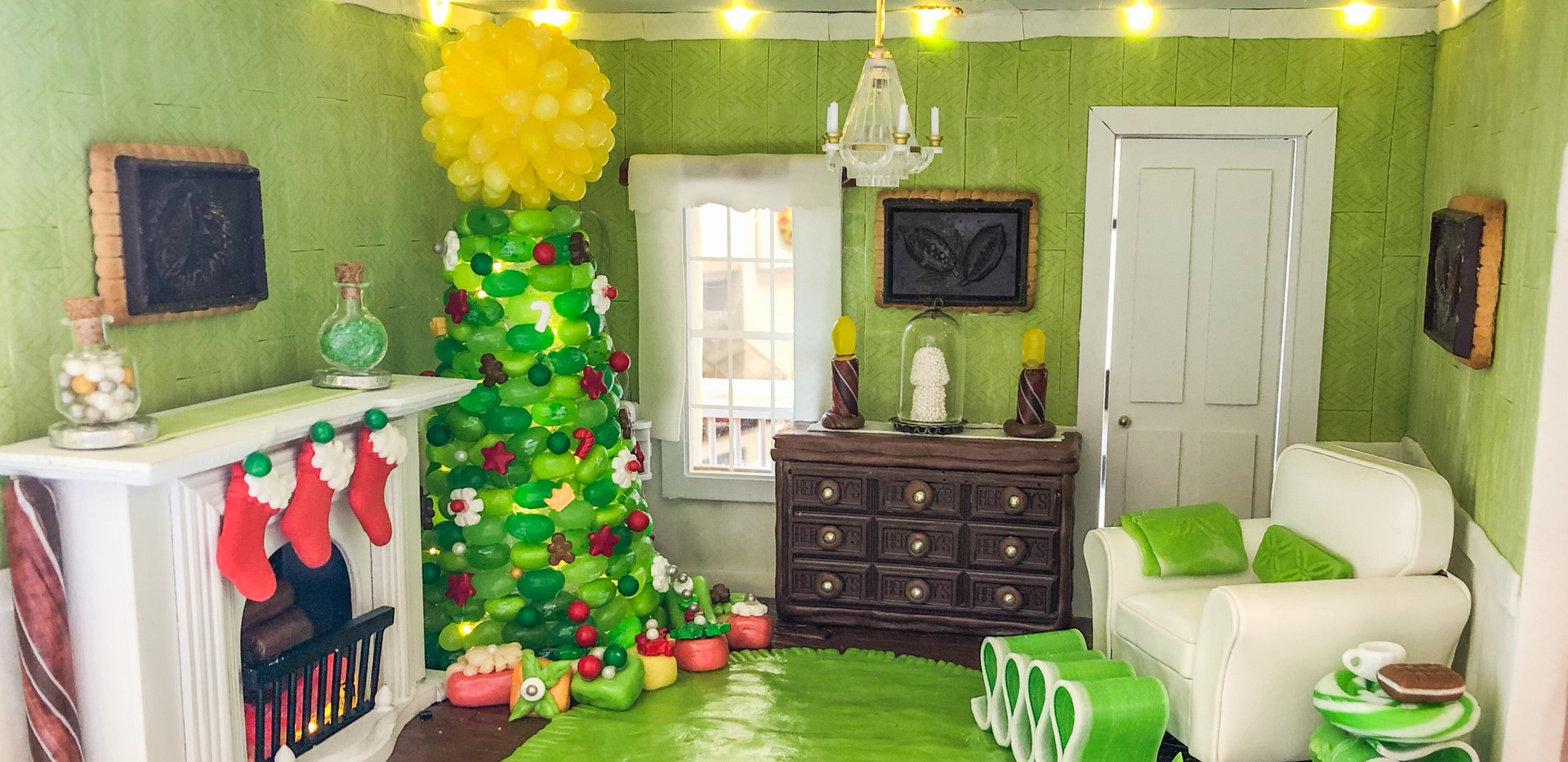 Living Room - Toosie Roll Floor, Gum Walls, Jelly Belly Tree, Chocolate Buffet