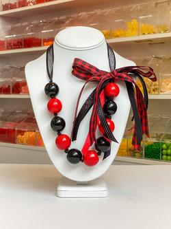 Red/Black/Flannel Ribbon