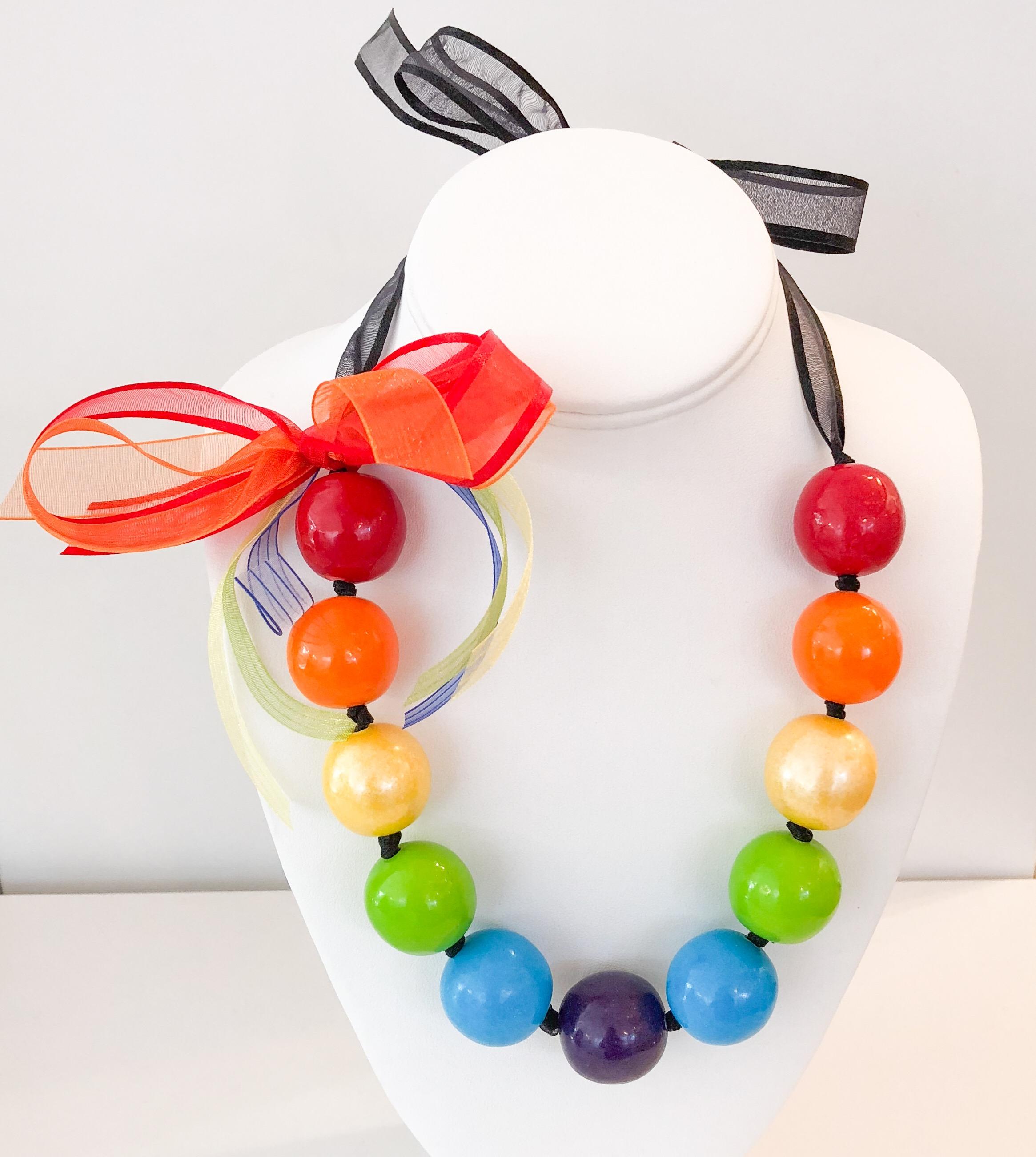 Rainbow w/black ribbon