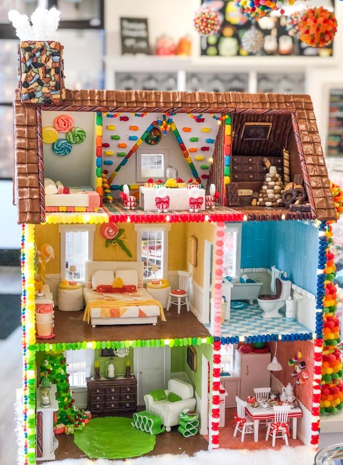 Inside Candy Mache Dollhouse