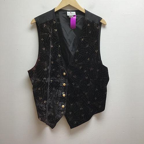 Keri Ann black suede glitter designed vest