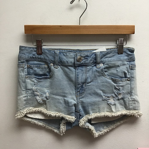 SOLD--American eagle light wash shorts